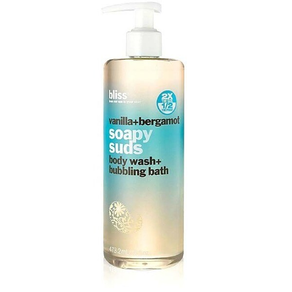 Bliss Vanilla + Bergamot Soapy Suds Body Wash + Bubbling Bath