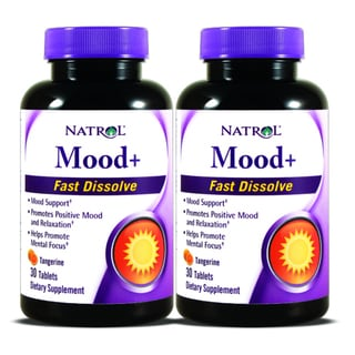 Natrol Mood+ Fast Dissolve 30-count Supplement (Pack of 2)