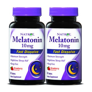 Natrol Melatonin Fast Dissolve 10mg (120 Tablets) (Pack of 2)
