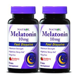 Natrol Melatonin Fast Dissolve 10mg (120 Tablets) (Pack of 2)