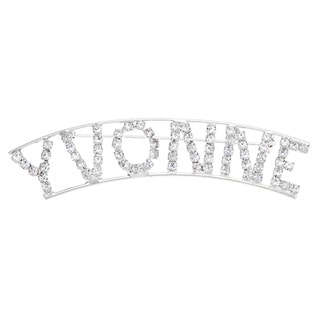 'Vyonne' Crystal Name Pin