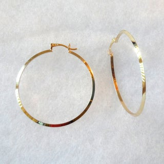 Ann Marie Lindsay Triple Layer Gold Extra-Large Hoop Earrings