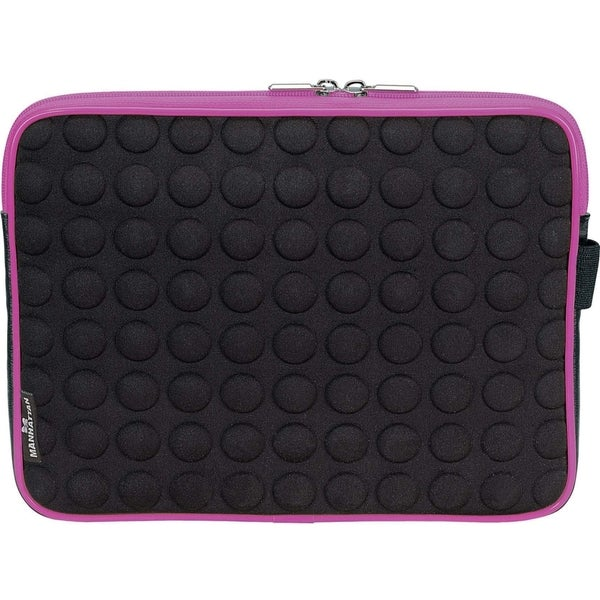 Manhattan Universal Tablet Bubble Case, Pink/Black