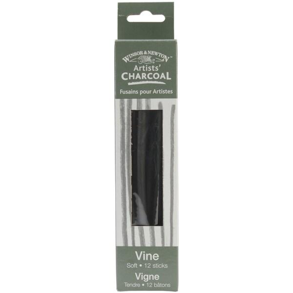 Winsor & Newtown Artist Vine Charcoal Sticks 12/Pkg-Soft