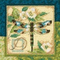 "Dragonfly Mini Needlepoint Kit-5""X5"""