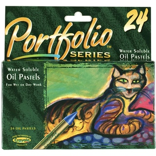 Crayola Portfolio Pastels 24/Pkg-Assorted Colors