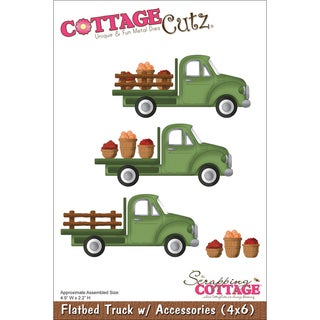 "CottageCutz Die 4""X6""-Flatbed Truck With Accessories"