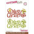 "CottageCutz Die 4""X6""-Merry Christmas Greeting"
