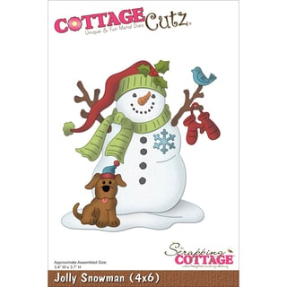 "CottageCutz Die 4""X6""-Jolly Snowman"