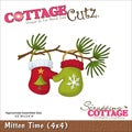 "CottageCutz Die 4""X4""-Mitten Time"