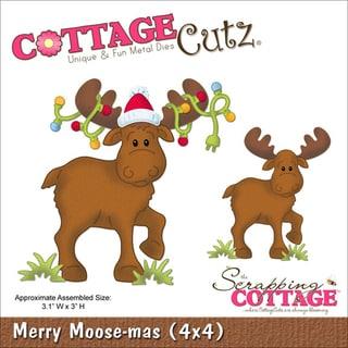 "CottageCutz Die 4""X4""-Merry Moose-Mas"
