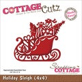 "CottageCutz Die 4""X4""-Holiday Sleigh"