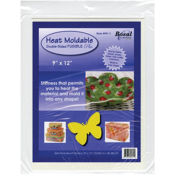 "Heat Moldable Double-Sided Fusible Plus-9""X12"" White 1/Pkg"