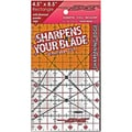 "The Cutting EDGE Clear Ruler-4-1/2""X8-1/2"""