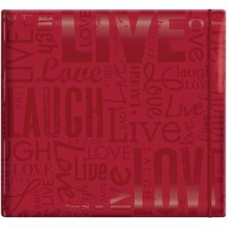 "Gloss Scrapbook 12""X12""-Live Love Laugh-Red"