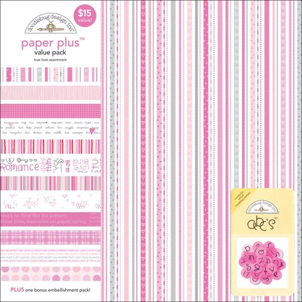 "Paper Plus Assortment Pack 12""X12"" 12/Sheets-True Love"