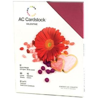 """American Crafts Seasonal Cardstock Pack 8.5""""X11"""" 60/Pkg-Valentine"""