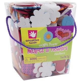 Foam Stickers 5 Ounces-Hearts & Flowers