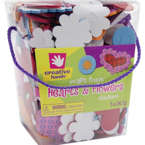 Foam Stickers 5 Ounces-Hearts & Flowers