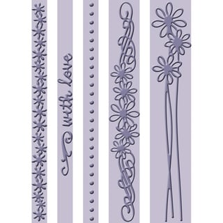 "Cuttlebug Embossing Folder Border Set 5.75"" 5/Pkg-With Love"