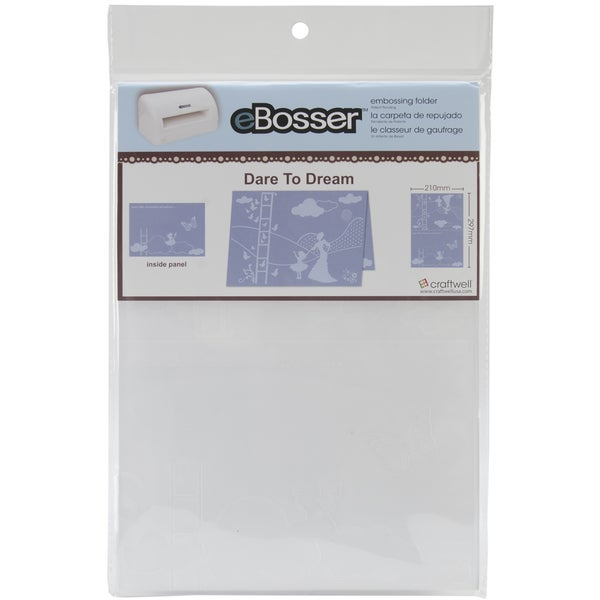 eBosser Embossing Folders A4 Size-Dare To Dream