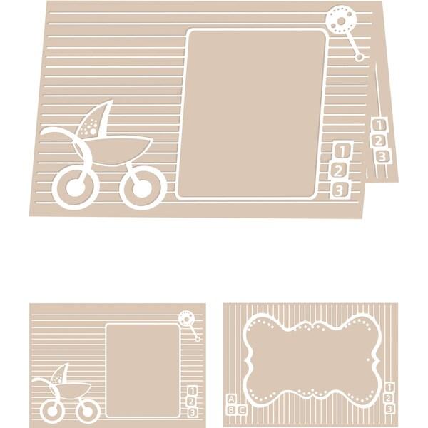 eBosser Embossing Folders A4 Size-Baby Blocks