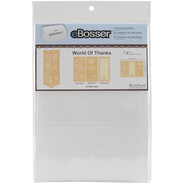 eBosser Embossing Folders A4 Size-World Of Thanks