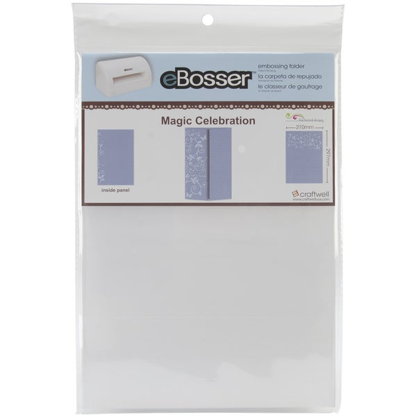 eBosser Embossing Folders A4 Size-Magic Celebration