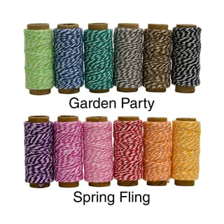 Hemptique Cotton Bakers Twine Mini Spool Bag Set 2 Ply 6/Pkg