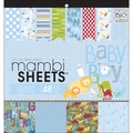 "MAMBI Sheets Specialty Cardstock 12""X12"" 48/Sheets-Oh Baby Boy"