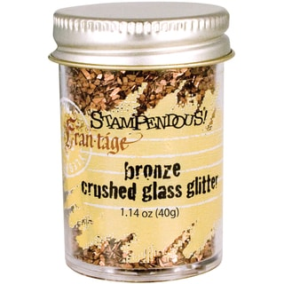 Stampendous Glass Glitter 1 Ounce-Bronze