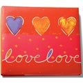 "Print Postbound Album 12""X12""-Love/Red"