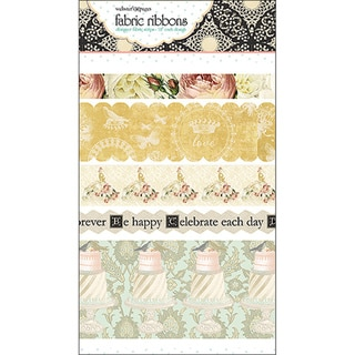 "In Love Fabric Ribbon-5 Styles/18"" Each"