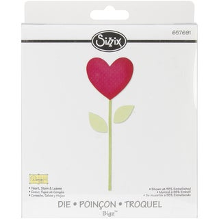 Sizzix Bigz Die-Heart, Stem & Leaves