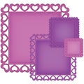 Spellbinders Nestabilities Decorative Elements Dies-Heart Squares