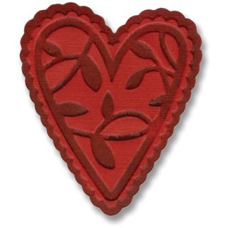 Sizzix Embosslits Die By Basic Grey-Figgy Pudding Lacy Heart