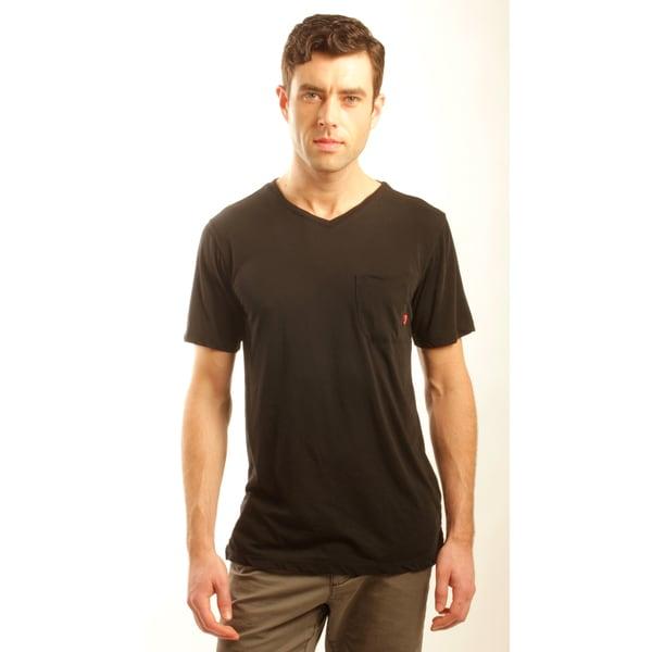 191 Unlimited Men's Slim Fit V-neck Tee