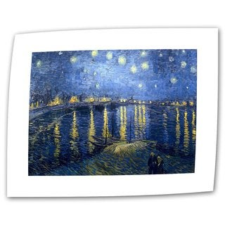 Vincent van Gogh 'Starry Night Over The Rhone' Flat Canvas