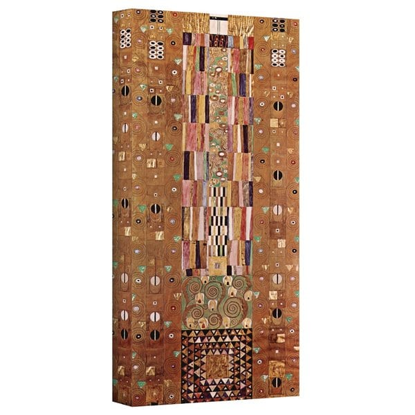 Gustav Klimt 'Abstract Frieze' Gallery Wrapped Canvas