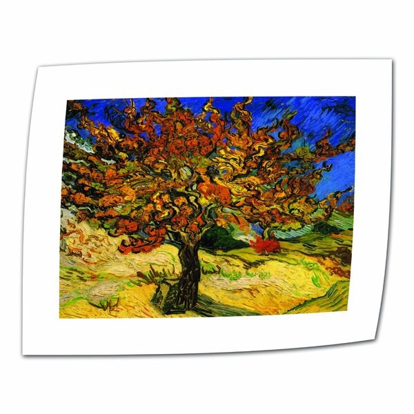 Vincent van Gogh 'The Mulberry Tree' Flat Canvas