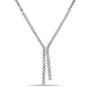 Miadora 14k White Gold 2 7/8ct TDW Diamond Lariat Necklace (G-H, I1-I2