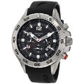 Nautica Men's Stainless Steel Black Dial Chrono Watch