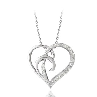DB Designs Sterling Silver 1/4ct TWD Diamond Heart Necklace