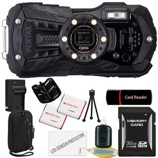 Pentax Optio WG-2 16MP Black Digital Camera with 32GB Bundle