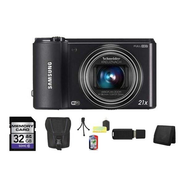 Samsung WB850F SMART Long Zoom Wi-Fi Black Digital Camera 32GB Bundle