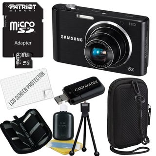Samsung ST77 16.1MP Digital Camera with 16GB Bundle