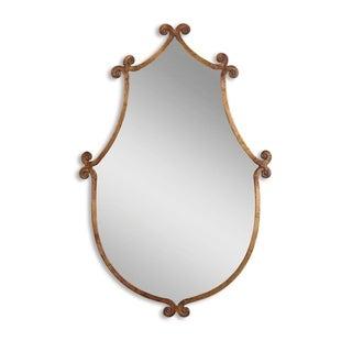 Uttermost Ablenay Gold Burnished Framed Mirror - 24x37x1.25