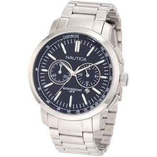 Nautica Men's Stainless Steel Blue Dial Watch