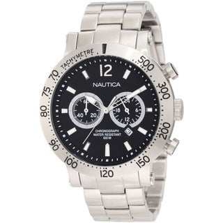 Nautica Men's Black Dial Stainless Steel Quartz Watch