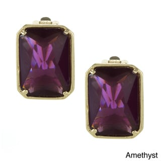 Carolee Cubic Zirconia Clip-on Rectangle Earrings